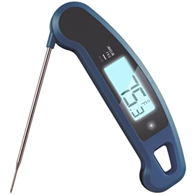 Lavatools Javelin PRO Duo Ambidextrous Backlit Instant Read Digital Meat Thermometer (Indigo)