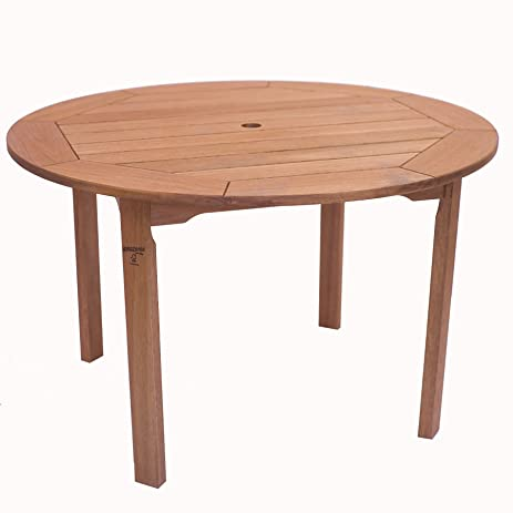 Amazon.com : Amazonia Milano Eucalyptus Round Table : Dining ...