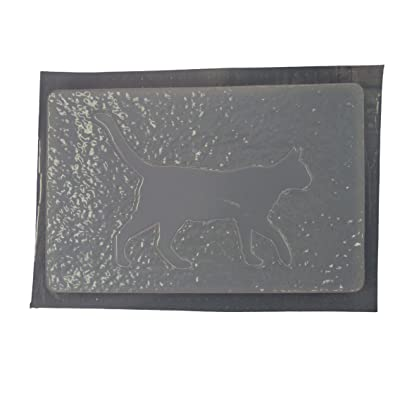 Cat Walking Stepping Stone Concrete Plaster Mold 7115: Home & Kitchen