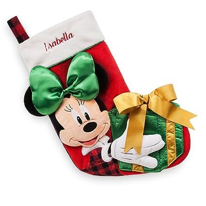 disney store minnie plush holiday christmas stocking 2017 - Disney Christmas Store