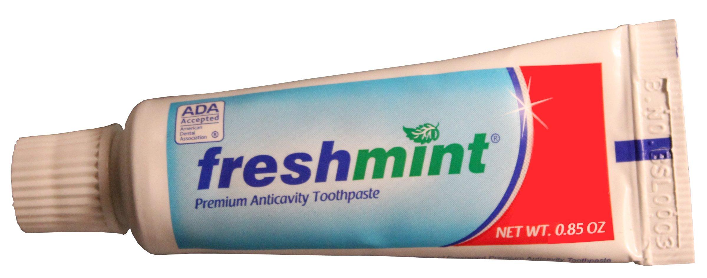 Freshmint Premium Anticavity Toothpaste .85 oz (ADA Approved) 144/CS