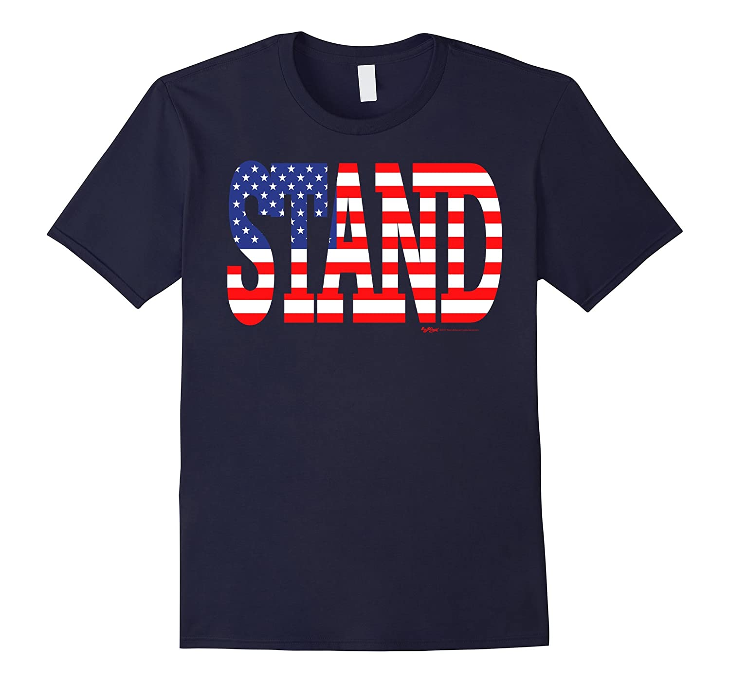 American Flag Stand for the Anthem T Shirt-TJ