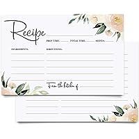 Bliss Collections - Tarjetas de receta floral, doble