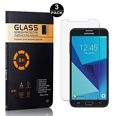 Bear Village Screen Protector for Galaxy J7 Prime/On 7, HD Screen Protector, 9H Scratch Resistant Tempered Glass Screen Protector Film for Samsung Galaxy J7 Prime/On 7, 3 Pack : Baby