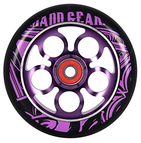 Madd Gear – Rueda para patinete, color morado/black110 mm