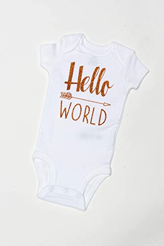 7e675f94 Hello World Bodysuit - Baby Bodysuit - Newborn Bodysuit - Hello World -  Coming Home Outfit - babyshowr gift - gender reveal - he or she - baby girl  bodysuit ...