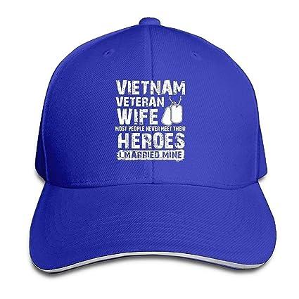 71214032016 Amazon.com   D.Neal. Vietnam Veteran Wife Novelty Adjustable Trucker ...