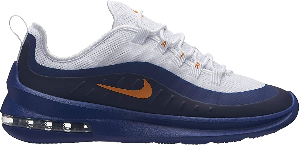 Nike Men's Air Max Axis Sneakers, WhiteOrange Peel Deep Royal Blue