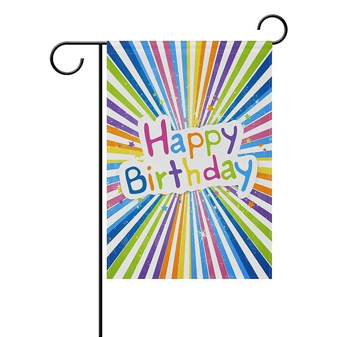 Doble cara colorido Felicidades feliz cumpleaños banderines ...