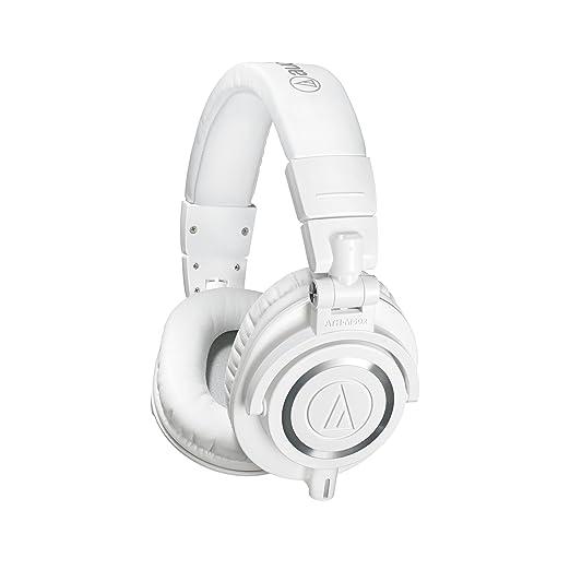 Audio-Technica ATH-M50XWH Professional Studio Monitor Headphones Over-Ear Headphones at amazon