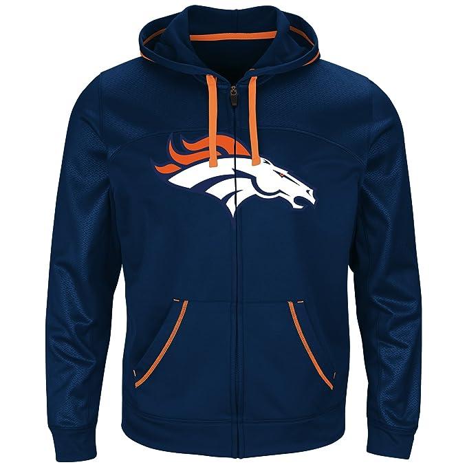 timeless design cf25d bbf79 NFL Mens Broncos Full Zip Hoodie