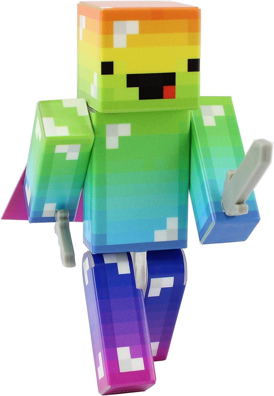 Amazon.com: EnderToys Derpy Rainbow Guy Action Figure Toy, 11 Inch
