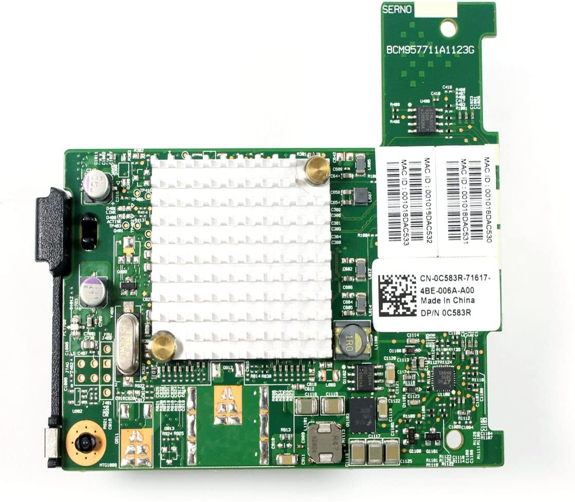 Dell C583R 0C583 Broadcom DCE(57711) 10G Dual Port Nextreme II Controller NIC Mezzanine Card For M-Series Blade System