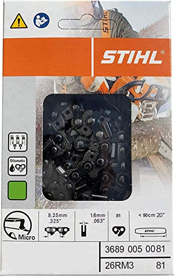 Amazon.com: Stihl 26rm3 – 81 oilomatic Rapid Micro 3 Cadena ...