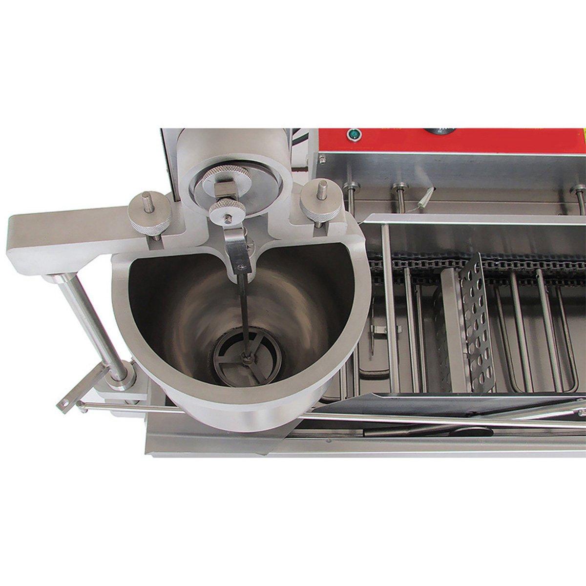 enshey 7L comercial automático máquina en forma de rosquilla Donut eléctrica sartén sartén de máquina/Auto Donuts moldura Turning collecting Donut freidora ...