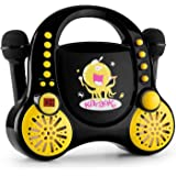 auna Rockpocket • Karaoke para niños • Karaoke • 2 x micrófonos dinámicos • Reproductor de