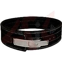 4Ajuste 10mm El peso Power Levantamiento piel Palanca Pro Cinturón de gimnasio Entrenamiento Negro