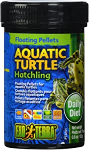 Exo Terra Aquatic Turtle Hatchling Food, Floating Pellets for Reptiles, 0.8 Oz., PT3241