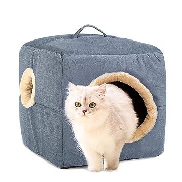 MIAO Cama/Perro Cama Mascota Y Casa Cachorro Gato Arena Mascota Casa,Graym: Amazon.es: Productos para mascotas