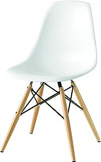 Vitra, 440023000204, Sedia in plastica con basamento in legno di ...