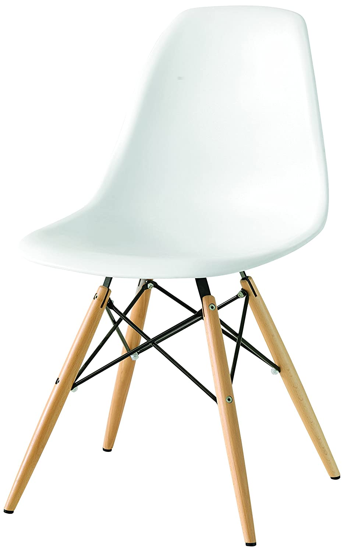fashion commerce FC636V Sedia, Bianco, 53.5 x 47 x 82 cm: Amazon ...