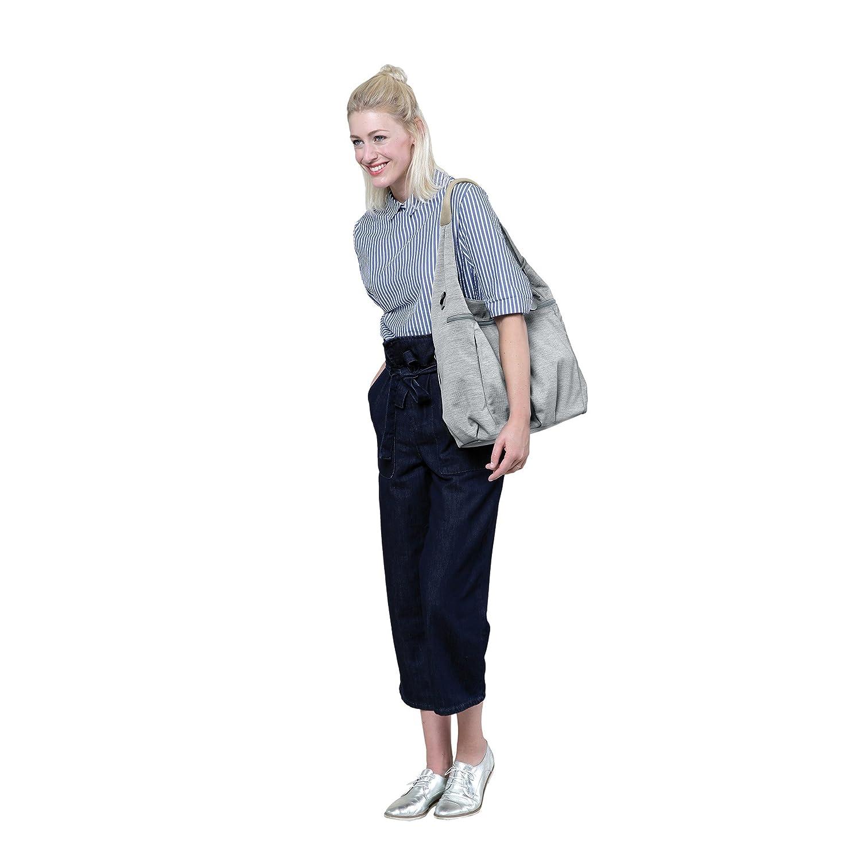 L/ÄSSIG Baby Wickeltasche Stylische Tasche nachhaltig Babytasche//Green Label Hobo Bag