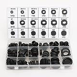 MOHOO Coffret de Joints toriques étanchéités 125 pcs assortiment de rondelles en caoutchouc Kit de bagues Anneaux de étanche