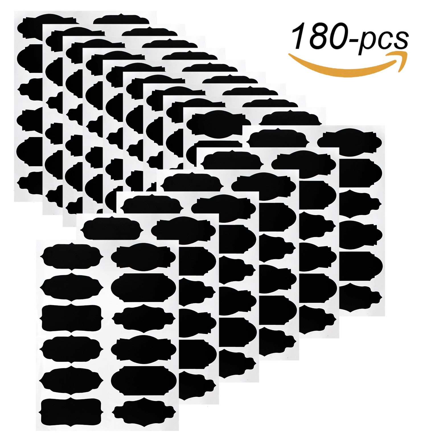 Chalkboard Labels,180pcs Waterproof Reusable Chalkboard Stickers Erasable for Labeling Mason Jars,Pantry,Craft Rooms & Closets-Organize Your Home & Office