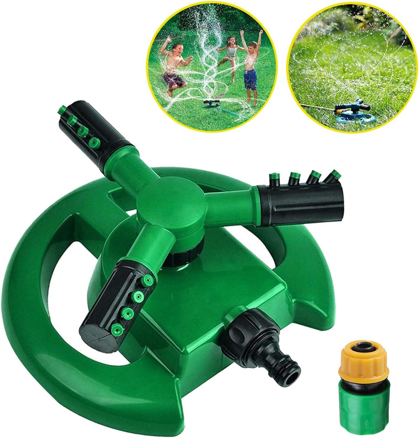 VALWORD Garden Sprinkler, 360 Degree Rotating Lawn Sprinkler Automatic Irrigation System 3600 Square Feet Coverage Oscillating Sprinkler for Garden Lawn Yard, Kids Playtime Outdoor : Garden & Outdoor