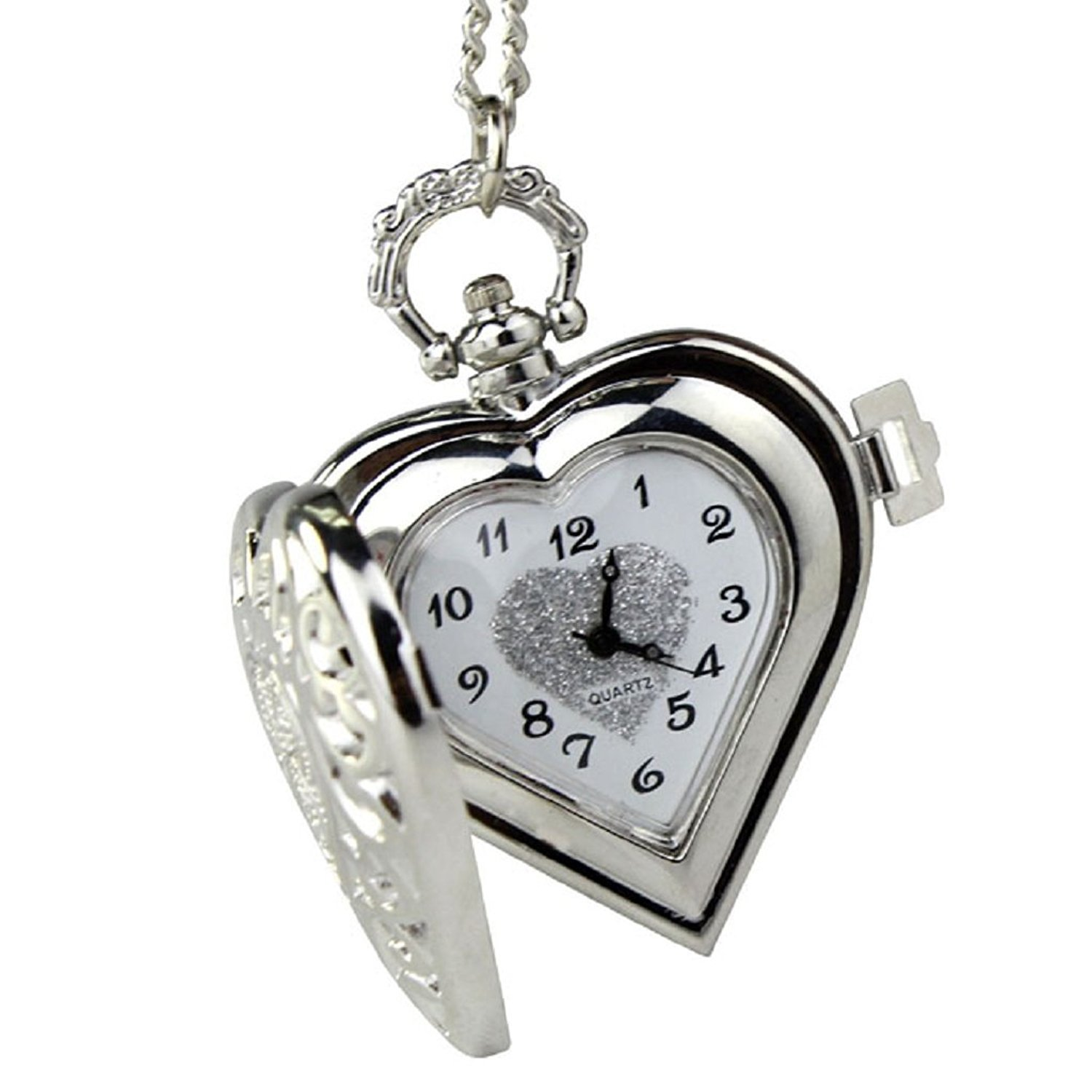 Carrie Hughes Womens Ladies Fashion Small Flower Steampunk Alloy Stainless Steel Pendants Pocket Watch (CH040)