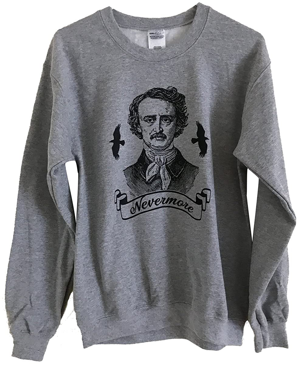 Friendly Oak Unisex Edgar Allan Poe Sweatshirt FRIENDLY-POE-SWEATSHIRT