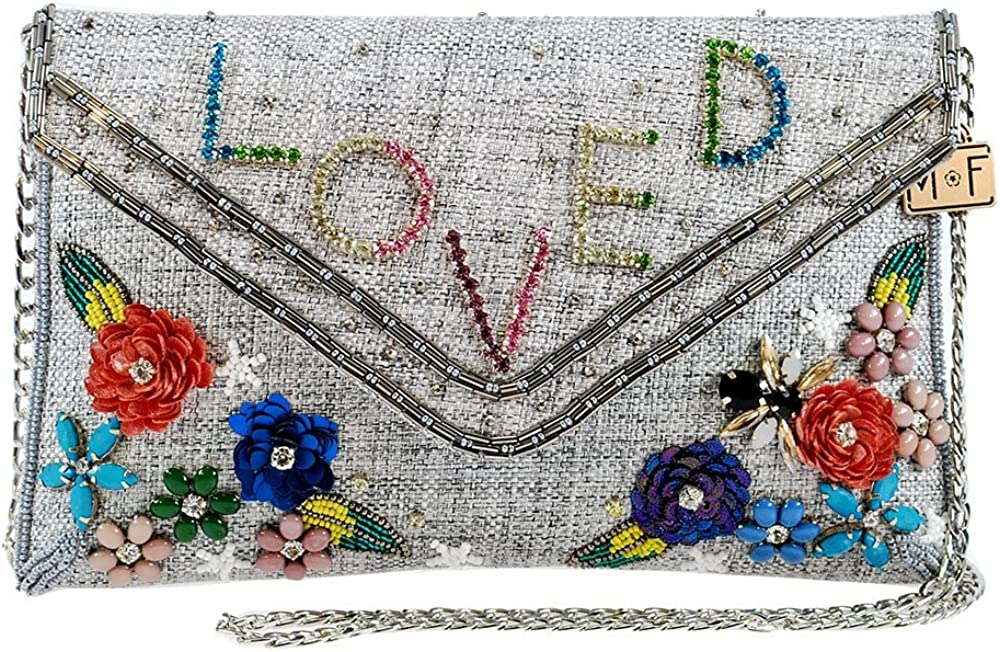 MARY FRANCES Love Is In The Air Embellished Crystal Clutch Handbag