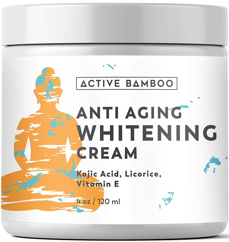 Whitening Cream. Anti Aging Skin Lightening Whitening Cream. Dark Spot Corrector as Day Night Moisturizing Cream. 4 Oz