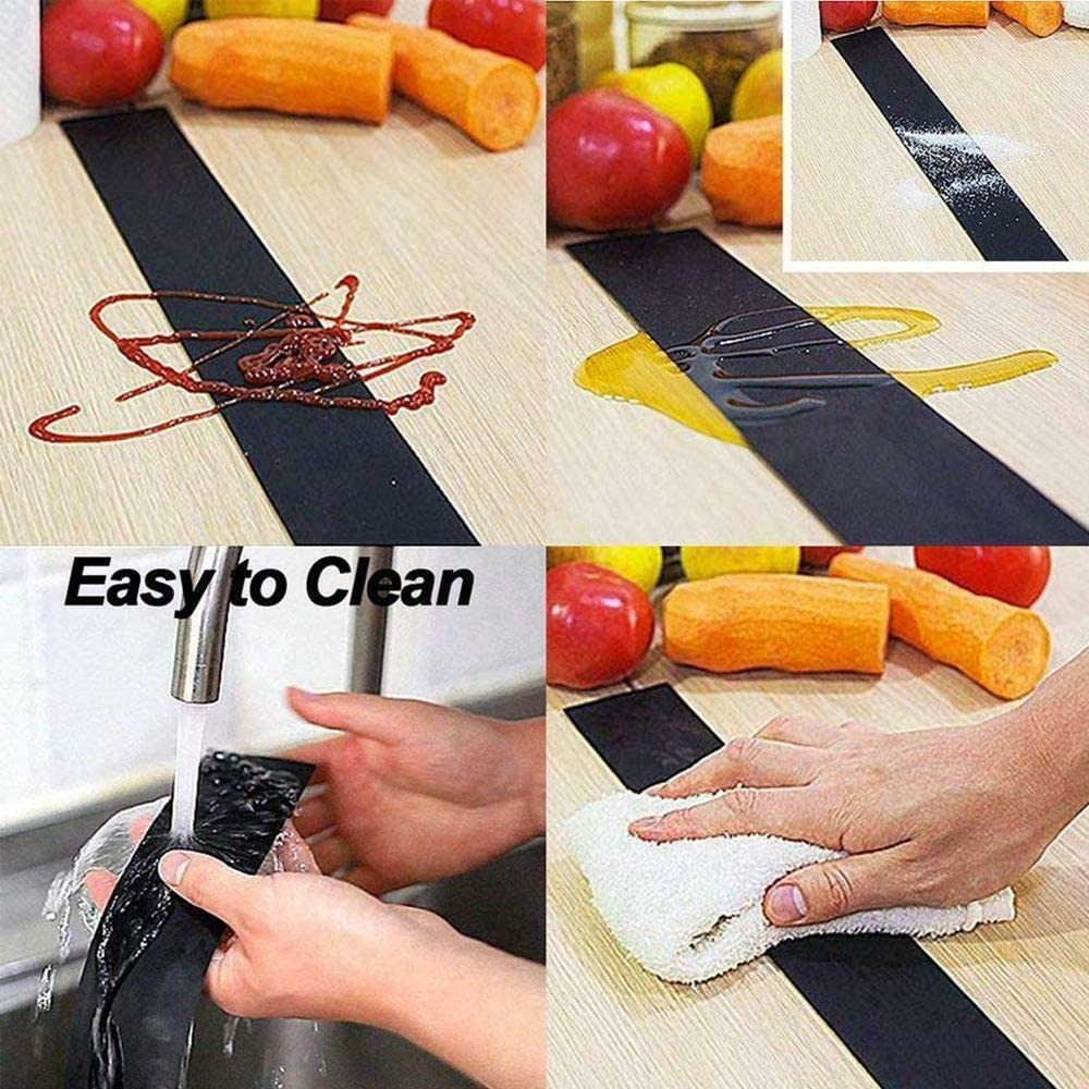 Heat Resistant Flexible Stove Counter Gap Cover Silicone Rubber Kitchen Oil-gas Slit Filler Mat Oil Dust Seal Water MZY1188 Silicone Stove Counter Gap Cover Resistant /& Easy Clean