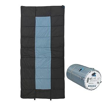 10T Outdoor Equipment 10T Brodie Saco de Dormir de Manta, Gris, Estándar