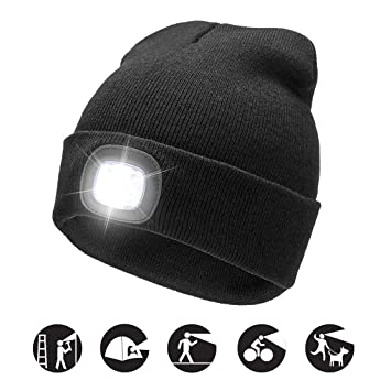 1deaa9374d1 ATNKE LED Lighted Beanie Cap