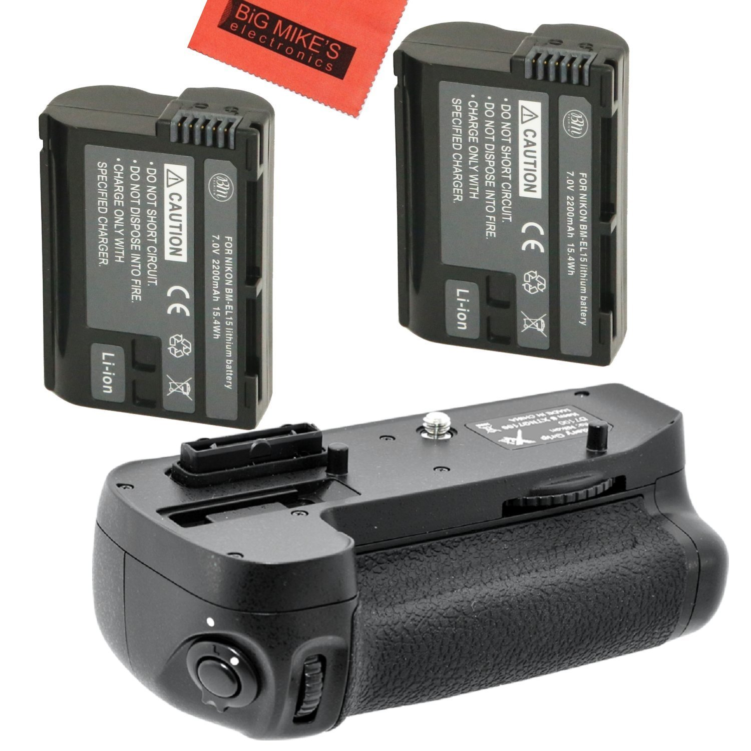 Battery Grip Kit For Nikon D7100 D7200 Digital Slr Imaging Products Parts And Controls D800 D800e Camera Includes Qty 2 Replacement En El15 Batteries Vertical More