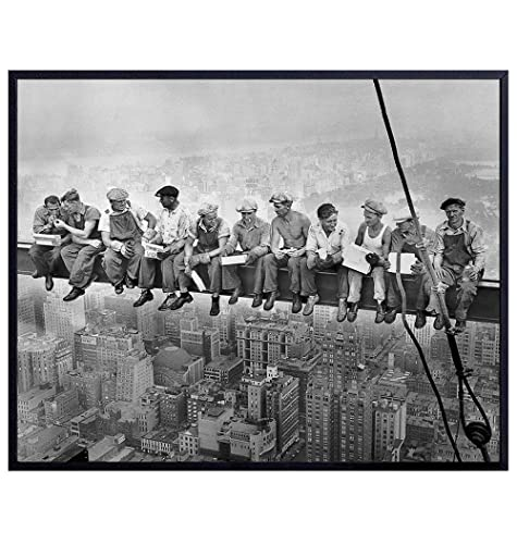 Lunch On a Skyscraper New York City Canvas Print Vintage Poster Home Wall Decor