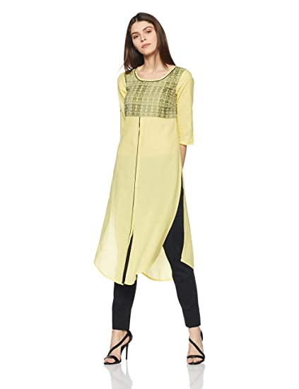 Aurelia Women's Straight Kurta Kurtas at amazon