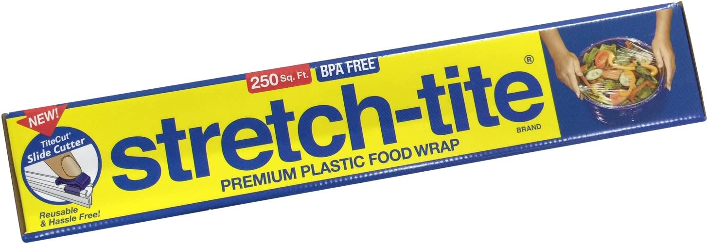 Stretch-Tite Premium Food Wrap With Titecut Slide Cutter, 250 Sq.ft