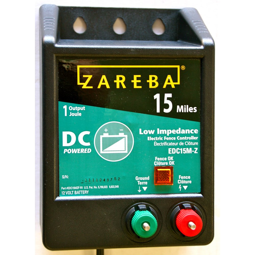 Zareba Esp10m Z 10 Mile Solar Low Impedance Electric Fence Energizer Wiring Diagram Powered Charger 15 Battery Operated Ac