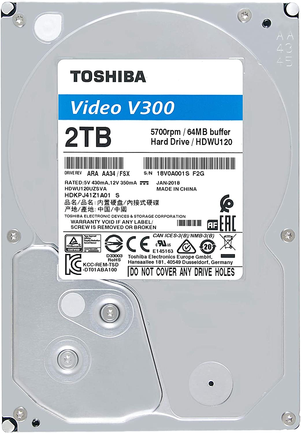 TOSHIBA 2 TB VIDEO SURVEILLANCE
