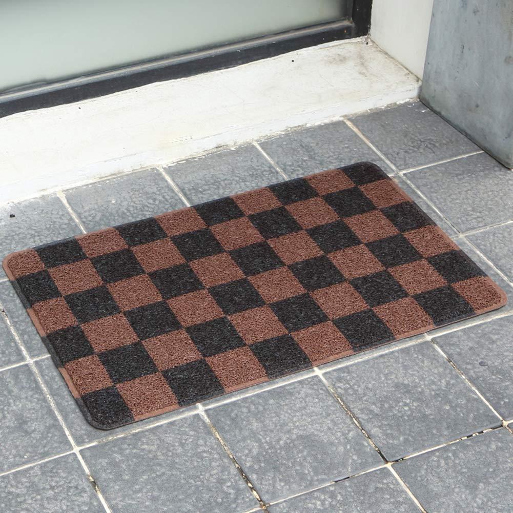 Black coffee color 60x90cm(24x35inch) Doormat,Entrance Doormat Non Skid Backing Waterproof Home Decor-Black Coffee color 60x90cm(24x35inch)