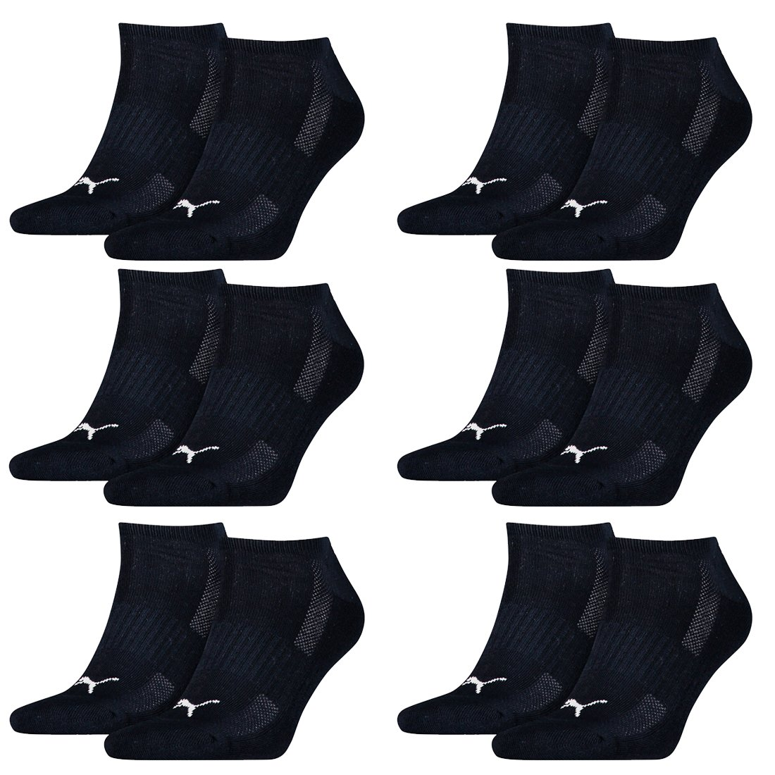 12 pairs of Puma Sneaker socks with terry sole Gr. 35 46