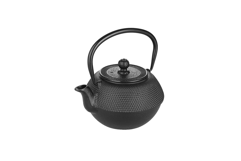 Black 13 x 13 x 9 cm Cast Iron IBILI Oriental Teapot Set with Filter
