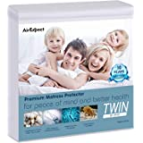 """AirExpect Waterproof Mattress Protector Twin Size 100% Full Cotton Hypoallergenic Breathable Mattress Pad Cover,15"""" Deep…"""