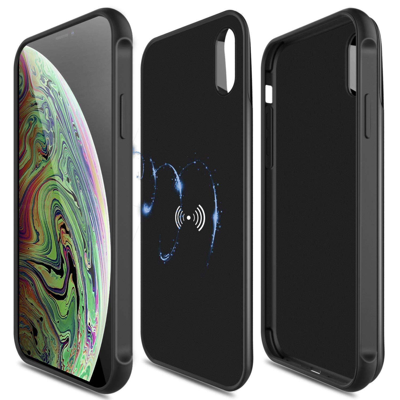 best website 95790 fd449 Amazon.com: Yiwa for iPhone X/XR/XS/XS Max Qi Wireless Charging ...