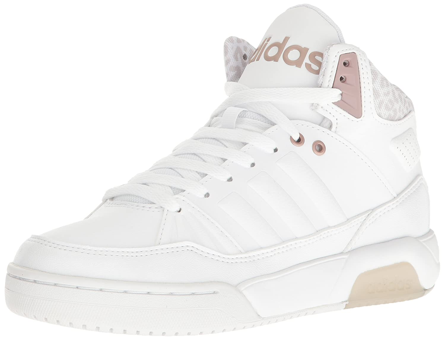 adidas Women's Play9tis Fashion Sneakers B01HSIUPI8 (7 M US)|White/White
