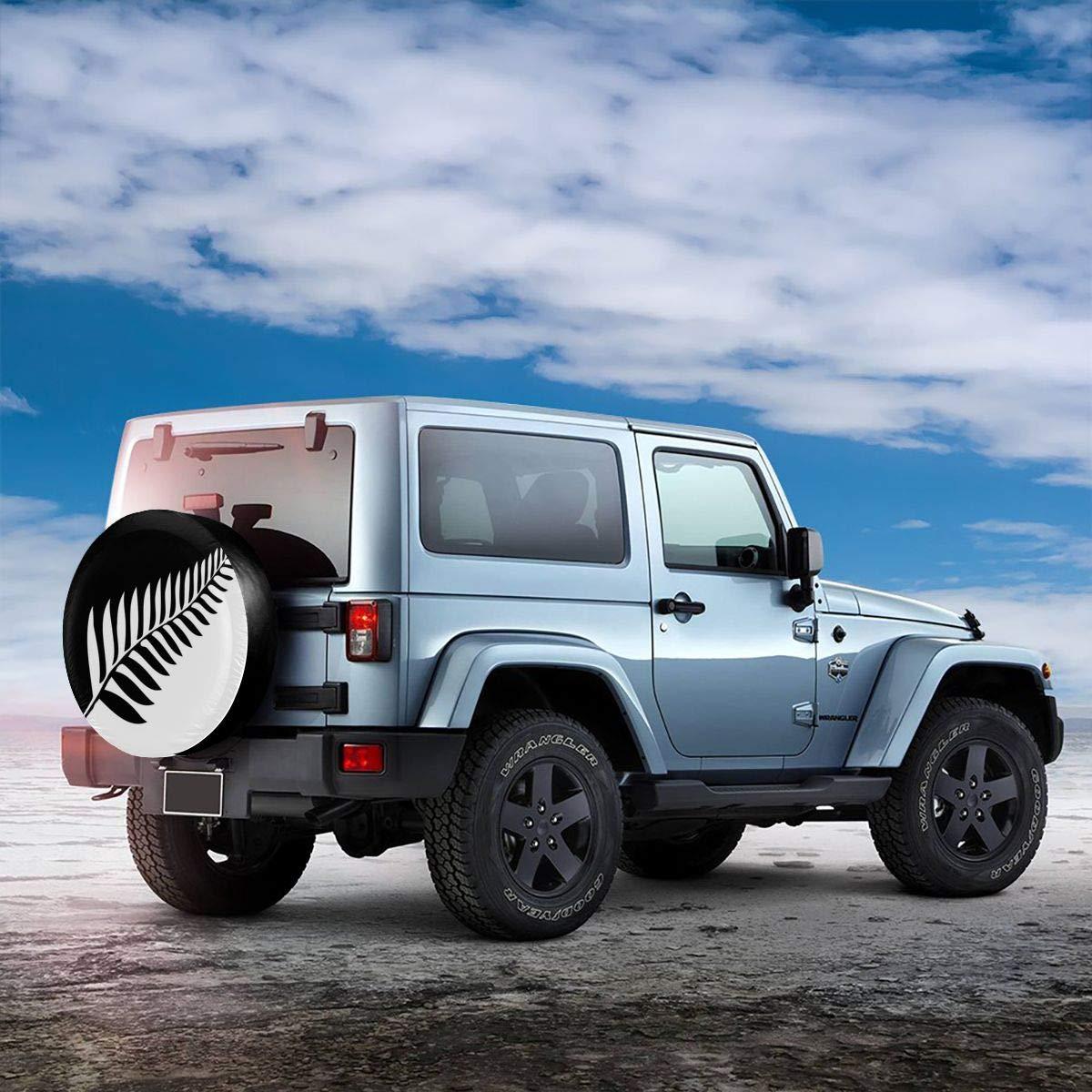 camionnette RV SUV Cocoal-ltd Housse de Roue de Secours Universelle en Forme de foug/ère de Nouvelle-Z/élande pour Camion remorque diam/ètre 68,6-73,7 cm Accessoires 38,1 cm Jeep Camping-Car