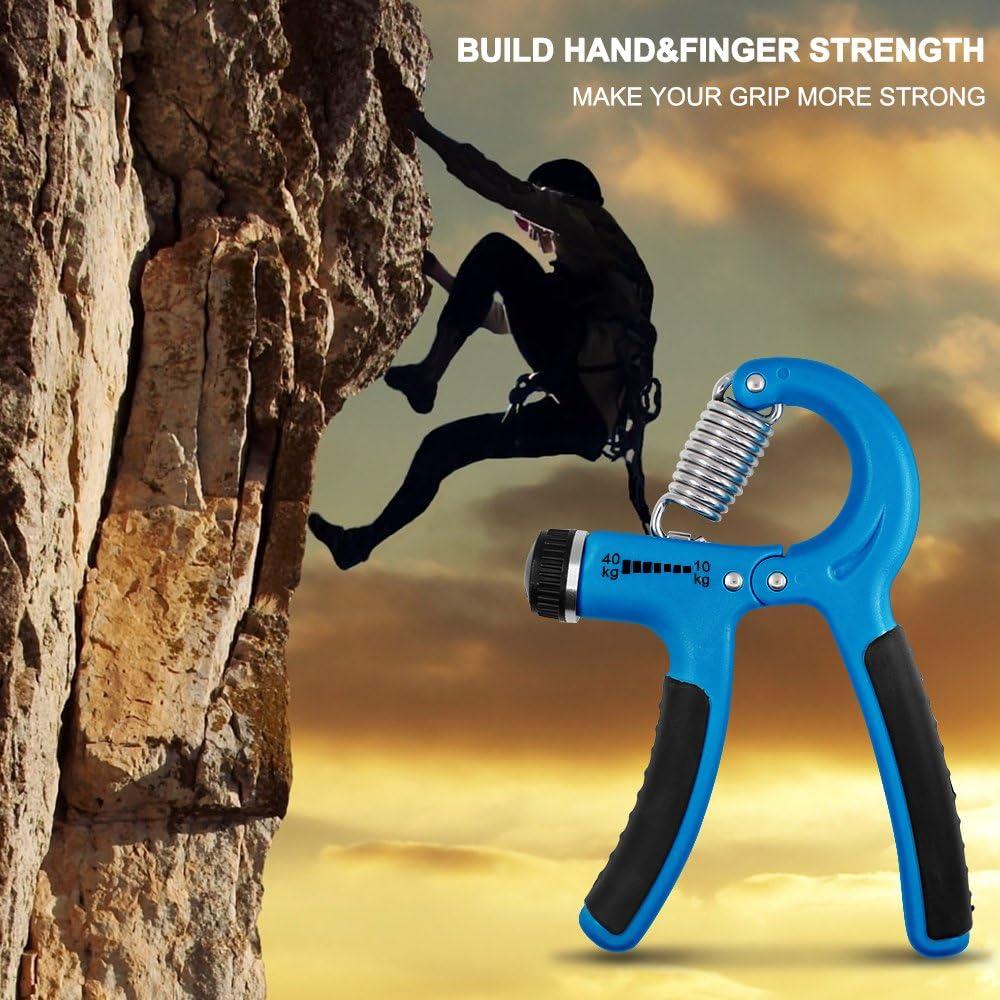 FineGood Federgriffhantel 22-88 Pfund//10-40kg f/ür Handgelenk Unterarm Krafttraining Klettern Fitness Hanteltraining Verstellbarer Handtrainer